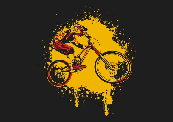 Downhill Bike Vector
