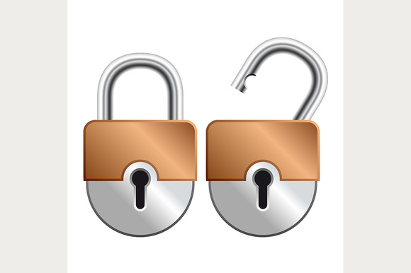 Locked And Unlocked Padlock Icon