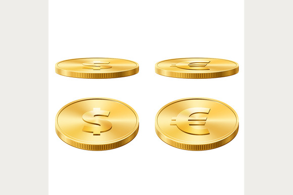 Icons Of Gold Coins