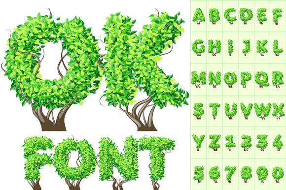 Detailed Tree Alphabet