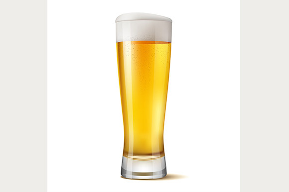 Realistic Glass Of Beer