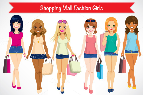 Shopping Mall Fashion Girls