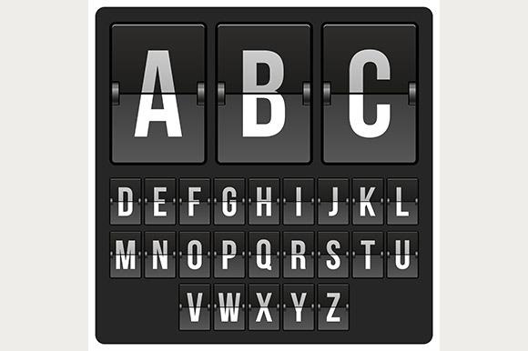 Scoreboard Letters Alphabet Mechanic