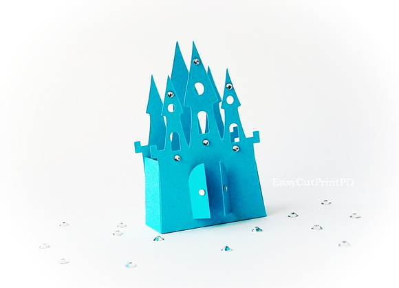 Princess Frozen Castle Box Template