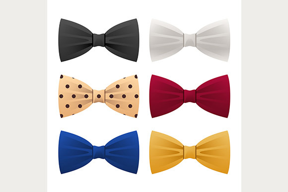 Flat Bow Tie Icons