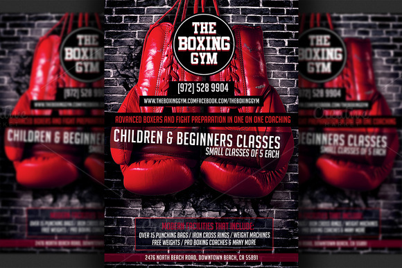 Boxing poster template to edit
