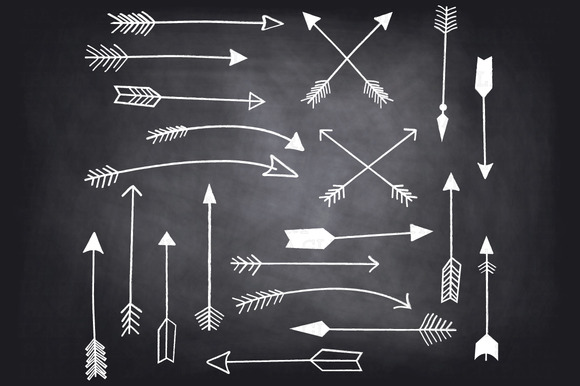 Chalkboard Hand Draw Arrow ClipArt
