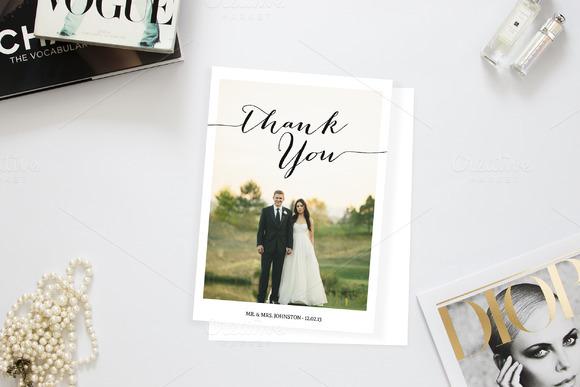Romantic Wedding Photo Thank You
