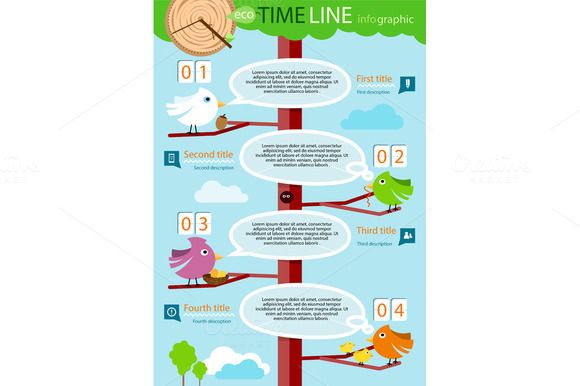 Timeline Infographic With Colorful