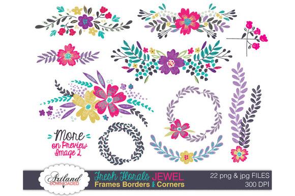 Fresh Florals Frame Pack Jewel