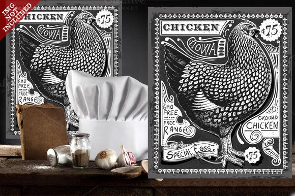 Poultry Advertising On Blackboard