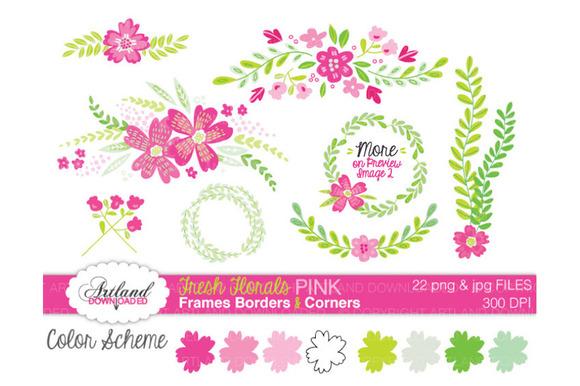 Fresh Florals Frame Pack Pink