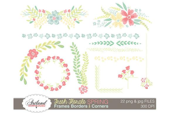 Fresh Floral Frame Pack Spring