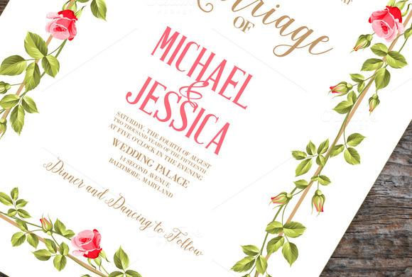 Printable Retro Marriage Invitation