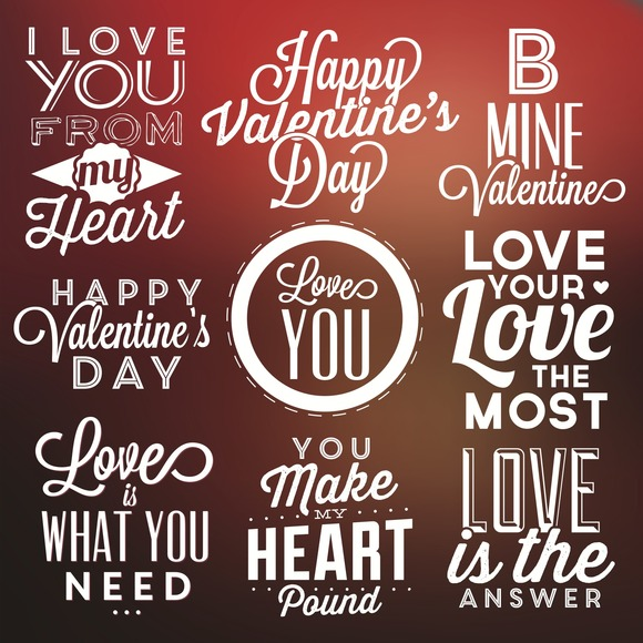 Valentine S Day Labels Vector Pack