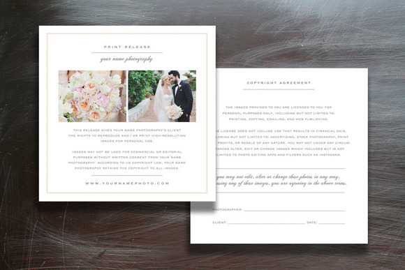 Wedding Photographer Licensing Forms