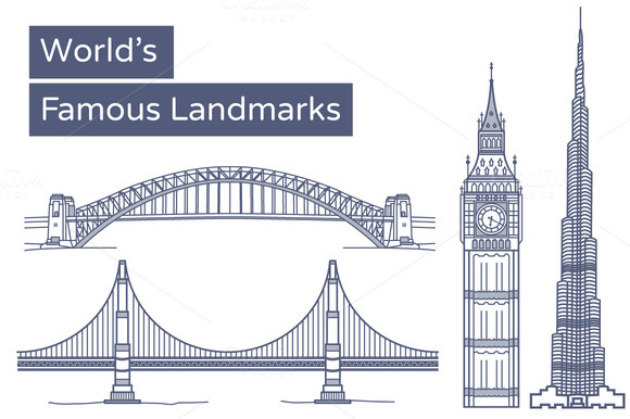 World S Famous Landmarks Monuments