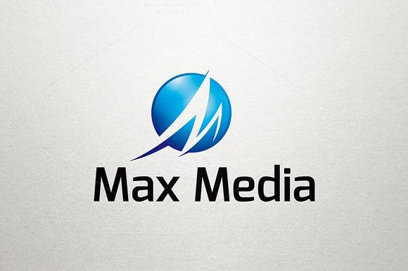 M Logo Max Media Logo