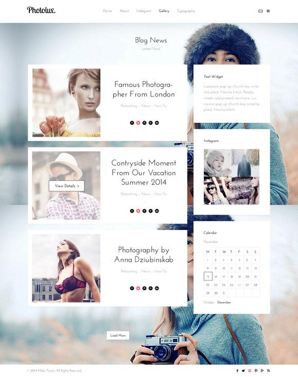 PhotoLux Multi Page HTML5 Template