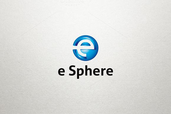 E Logo E Sphere