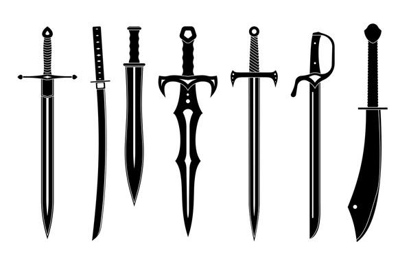 Icon Set Of Swords