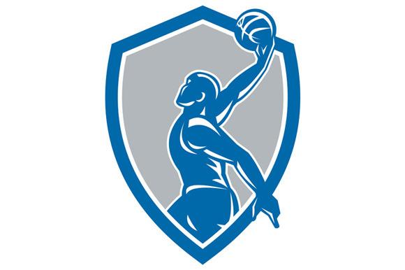 Basketball Player Dunk Ball Shield R
