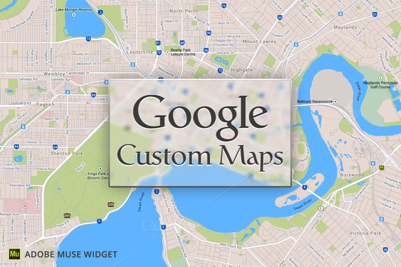 Google Custom Maps PRO Adobe Muse