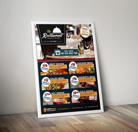 Cafe And Restaurant Flyer