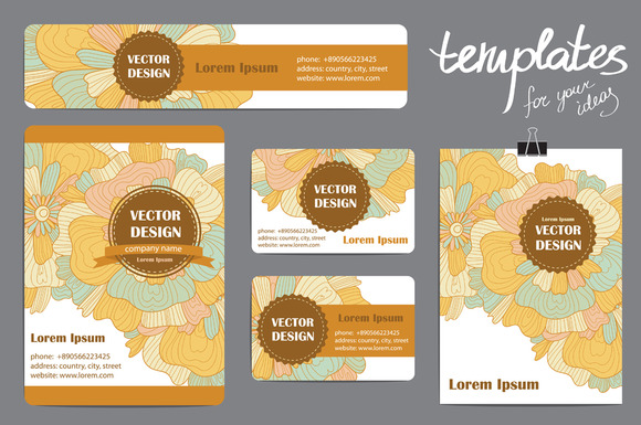 Corporate Identity Vector Templates