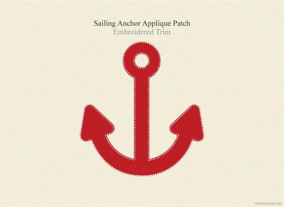 Sailing Anchor Applique Patch