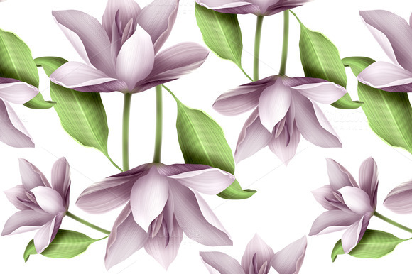 Elegant Floral Seamless Pattern With