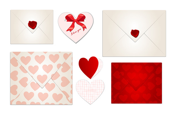 Set Of Valentine S Day Letters