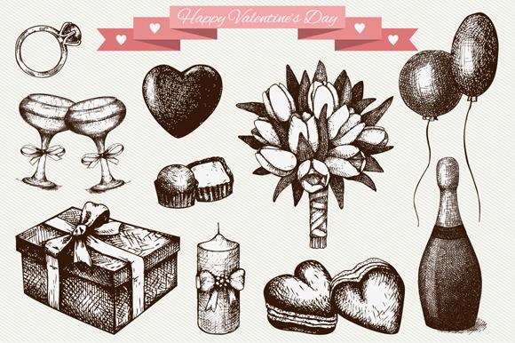 Valentines Day Sketch Set 3 Pattern