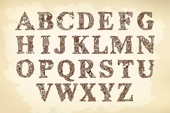Handmade Drawing Alphabet