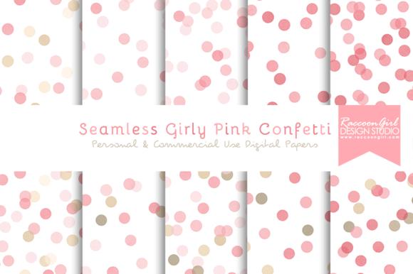 Seamless Girly Pink Confetti