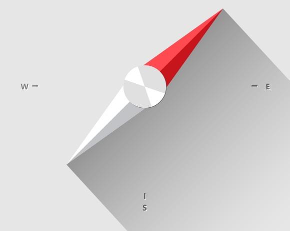 Flat Compass Needle
