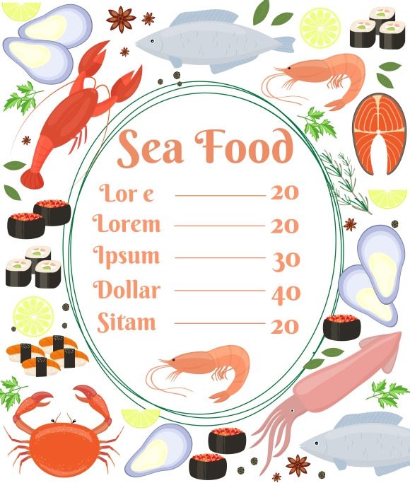 Seafood Menu Poster