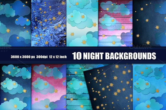Night Backdrop Backgrounds