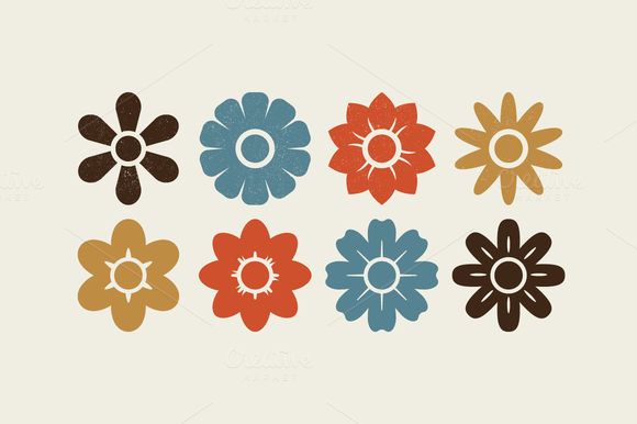 Vector Flower Shape Set