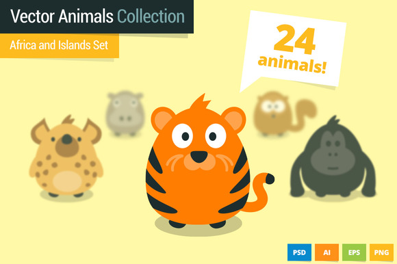 Africa And Islands Animals Set