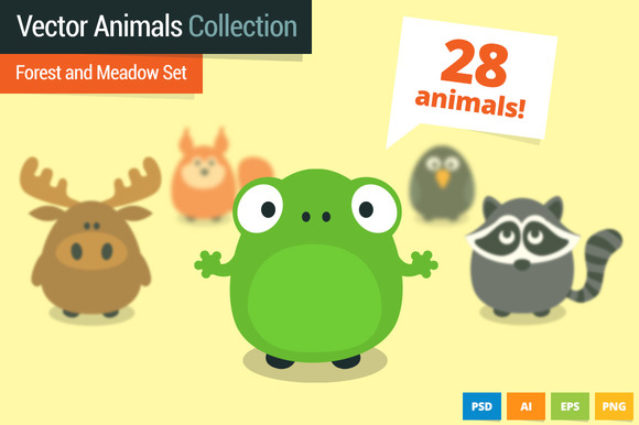 Forest And Meadow Animals Set