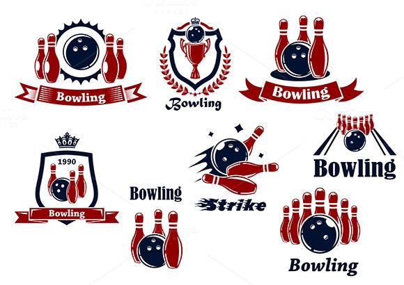 Bowling Logo Icons