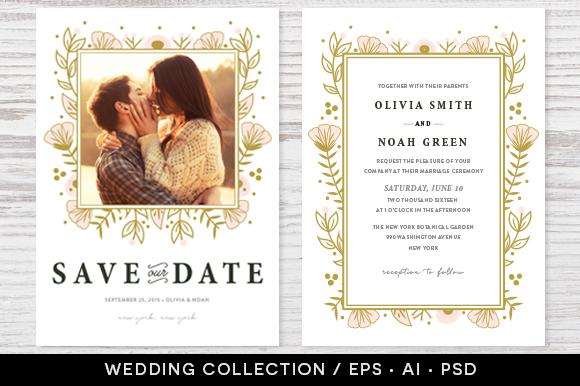 Wedding Invitation Collection Design