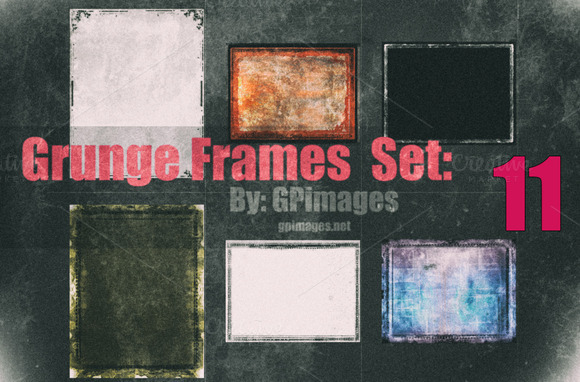 Six High Resolution Grunge Frames