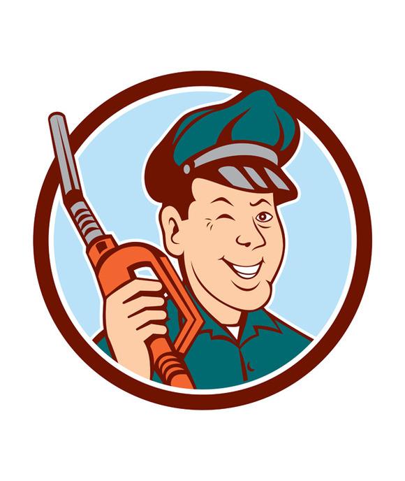 Gas Attendant Nozzle Winking Circle