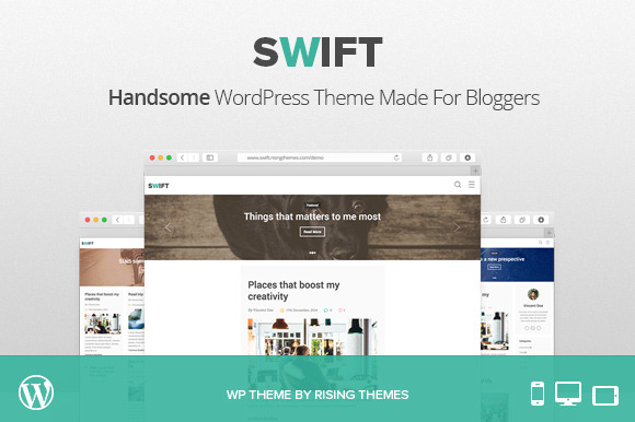 Swift Handsome WP Blog Theme