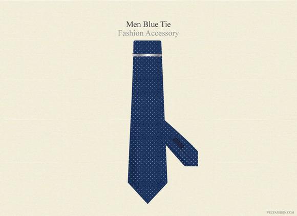 Men Blue Tie Fashion Accessory