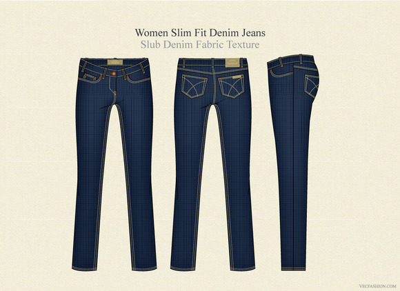 Women Slim Fit Denim Jeans