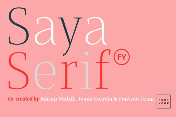 Saya Serif FY Black Italic