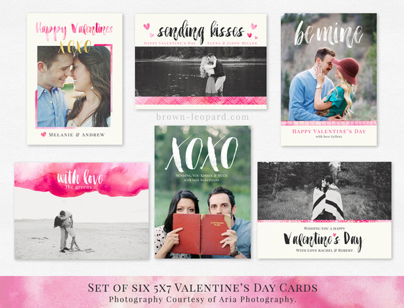 Set Of Valentine S Day Cards 5x7